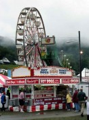 Concession stand, wheel and fog!